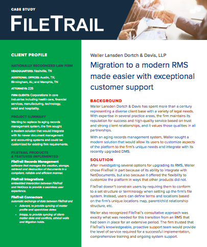 FileTrail records management software case study