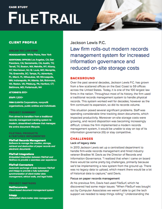 Records Management Software for Law firms
